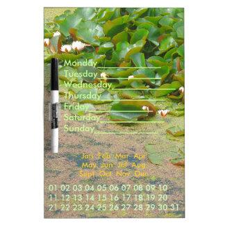 Lilypads Perpetual Calendar Dry-Erase Board