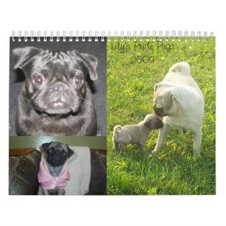 Lily's Pride Pugs 2009 Calendar