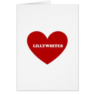 Lilywhites Tarjeta De Felicitación