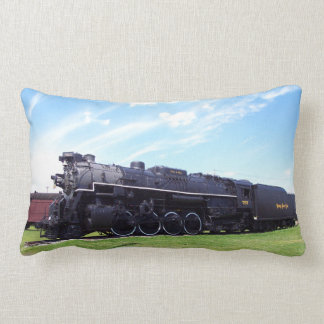 Lima-Baldwin Locomotive Nickel Plate Railroad #757 Throw Pillows