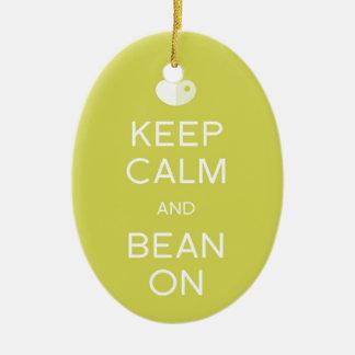 """LIMA Bean """"Keep Calm"""" Ornament"""
