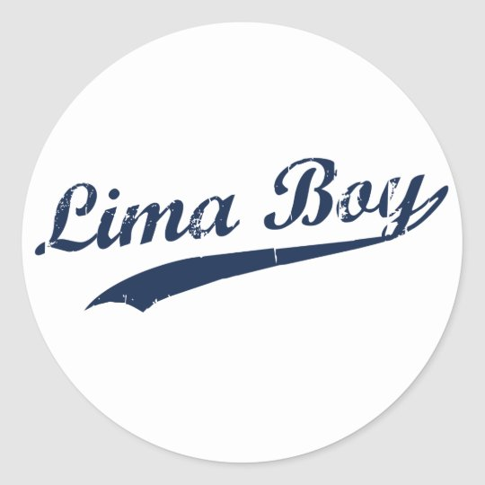 Lima Boy Classic Round Sticker