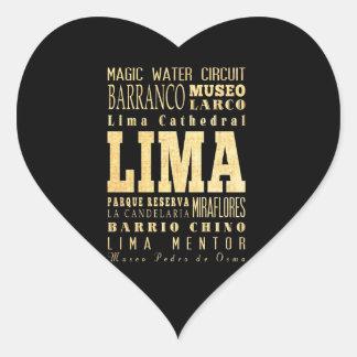 Lima City of Peru Typography Art Sticker