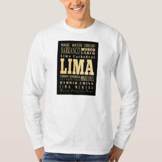 Lima City of Peru Typography Art T-Shirt