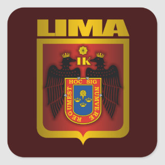 """Lima Gold"" Square Sticker"