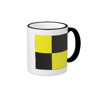 Lima (L) Signal Flag Ringer Coffee Mug