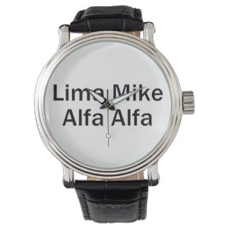 Lima Mike alpha LMAA Watch
