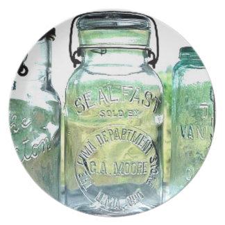 Lima Ohio Fruit Jar Antique Vintage Mason Jars Plate