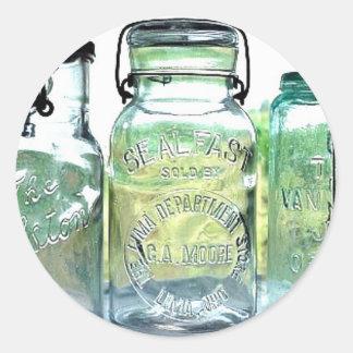 Lima Ohio Fruit Jar Antiques Vintage Mason Jars Classic Round Sticker
