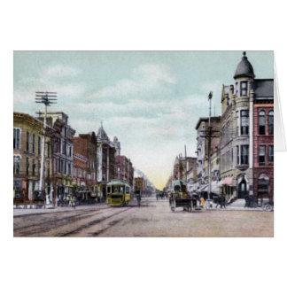 Lima Ohio Main Street Greeting Card