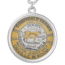 Lima Ohio Sunnydale Milk Cap Vintage Jewelry Charm