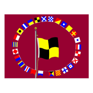 Lima  You should stop  . Nautical Signal Flag Post Card