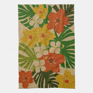 Limahuli Garden Hawaiian Floral Kitchen Towel