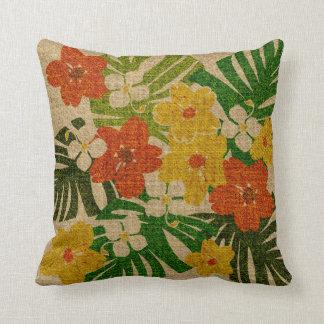 Limahuli Garden Hawaiian Floral Square Pillows