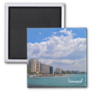 Limassol – famous city in south of Cyprus 2 Inch Square Magnet