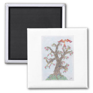 Limax Tree 2 Inch Square Magnet