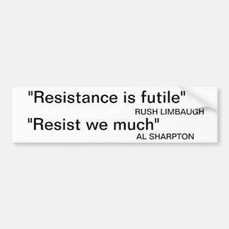 Limbaugh contra Sharpton Pegatina Para Auto