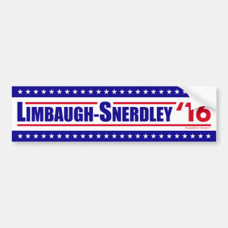 Limbaugh-Snerdley for President 2016 Car Bumper Sticker