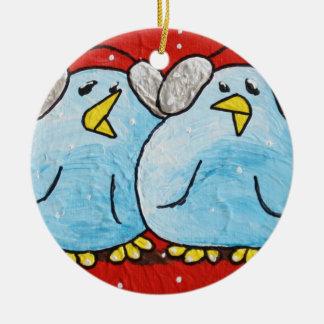LimbBirds Circle Christmas Ornament