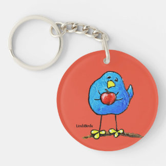 LimbBirds Circle (single-sided) Keychain