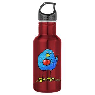 LimbBirds Custom Water Bottle (18 oz), Red