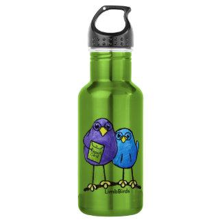 LimbBirds Custom Water Bottle (18 oz), White