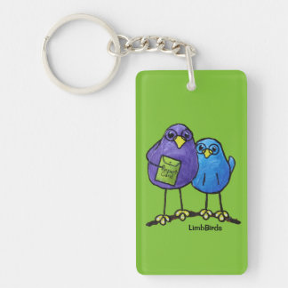 LimbBirds Rectangle (double-sided) Keychain
