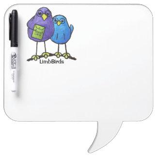 LimbBirds Speech Bubble w/ Pen Dry Erase Dry-Erase Board