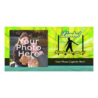Limbo, Colorful Neon Party Photo Card
