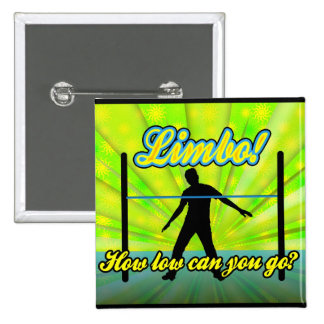 Limbo, Colorful Neon Party Pinback Button