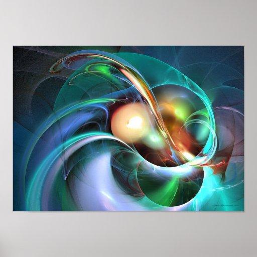 Limbo del olvido - arte del fractal posters