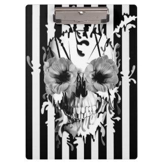 Limbo, poppy skull with stripes clipboard