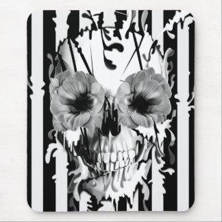 Limbo, skull with poppy eyes mouse pad