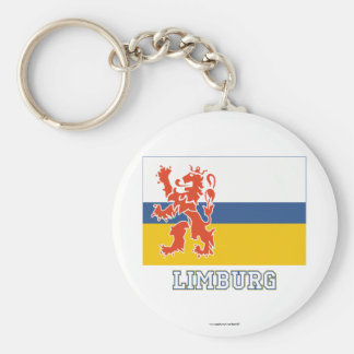 Limburg Flag with name Key Chain