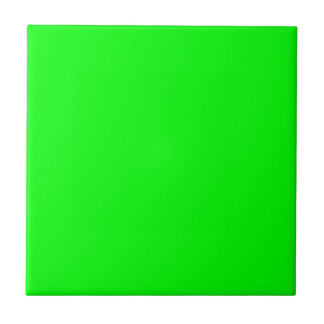 Lime 00FF00 Small Square Tile