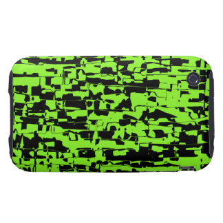 Lime Abstract Crackle Tough iPhone 3 Covers