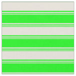 [ Thumbnail: Lime and Beige Pattern of Stripes Fabric ]