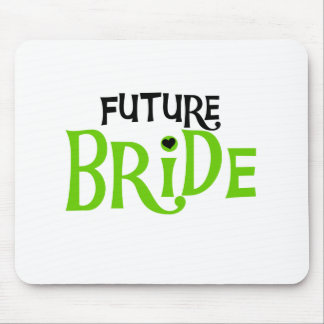 Lime and Black Future Bride Mouse Pad