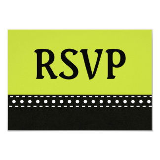 Lime and Black RSVP Stitches and Polka Dots V10C Card