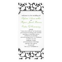 lime and black Wedding program