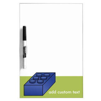 Lime and Blue Building Black Toy Custom Text Dry-Erase Board