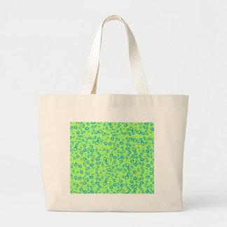 lime and blue cheetah bag