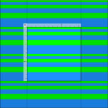 [ Thumbnail: Lime and Blue Stripes/Lines Pattern Fabric ]
