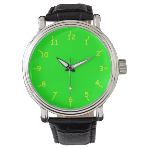 Lime and Chartreuse Wrist Watch