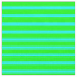 [ Thumbnail: Lime and Cyan Colored Striped/Lined Pattern Fabric ]