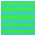 [ Thumbnail: Lime and Dark Turquoise Colored Lines Fabric ]