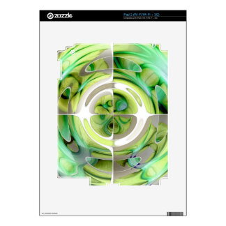 Lime and Green Abstract Collage Decals For The iPad 2