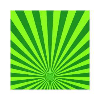 Lime and Green Funky Abstract Art  Wrapped Canvas