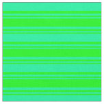 [ Thumbnail: Lime and Green Lines Fabric ]