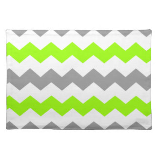 Lime and Grey Chevron Placemat